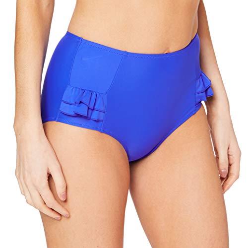 Pour Moi Splash Frill Control Bikini Bottom, 14/L, Ultramarine