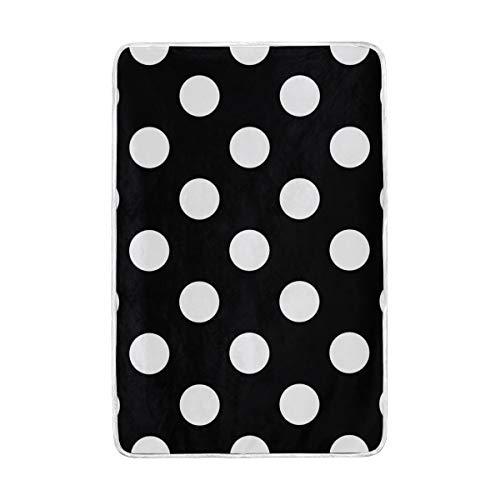 CPYang Tagesdecke, gepunktet, weich, warm, Mikrofaser, für Erwachsene, Mädchen, Jungen, Kinder, 152 x 229 cm