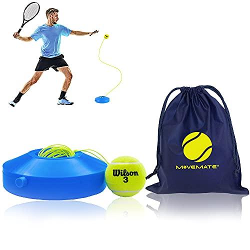 MOVEMATE Tennis-Trainer Set mit Wilson® Tennisball | innovatives Ballspiel für Draußen, im Garten, im Park für Kinder & Erwachsene | inkl. Transporttasche & Übungsvideos