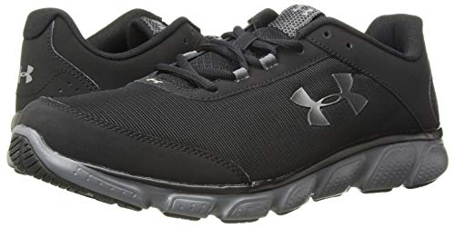 Under Armour Men's Micro G Assert 7 Running Shoe, Black (001)/Rhino Gray