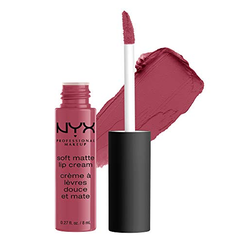 NYX PROFESSIONAL MAKEUP Soft Matte Lip Cream, High-Pigmented Cream Lipstick - Sao Paulo, Bubblegum Pink