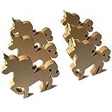 6 piezas de madera feliz, decoración principal, diseño de poni, marca DIY