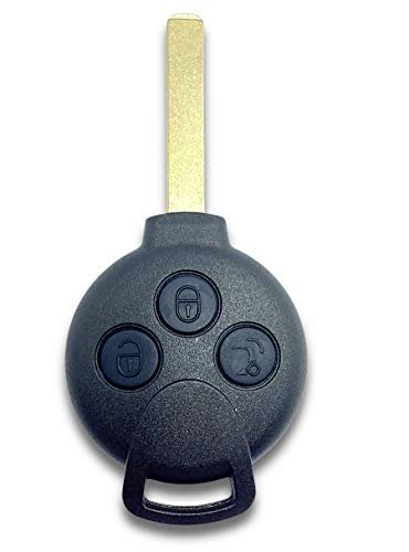 Shoppy Lab Shell Shell 3 Botones Control Remoto para Smart Fortwo 450 Forfour 451 Roadster Blade Incluido en el Regalo