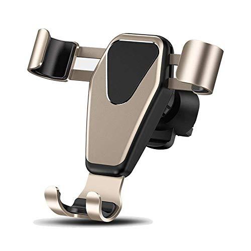 Soporte de teléfono móvil de Coche Soporte de teléfono de Aire Sensor de Gravedad Universal Soporte Soporte de Soporte 360 ° Rotación Jianyangshangmao (Color : Gold)
