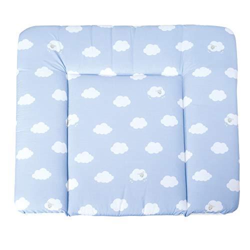 roba Wickelauflage 'Kleine Wolke blau', weiche Wickelunterlage 85x75cm, Wickeltischauflage PU beschichtet