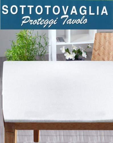 Biancocasa Sottotovaglia Ovale (Mollettone Panno) con Angoli + Elastico cm 140x240 per Misure Tavolo (da 100x200 a 120x220) distribuito by
