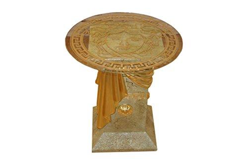 Antikes Wohndesign Versa Serie Blumensäule Marmorsäule Deko Säule runder Beistelltisch Telefontisch