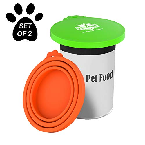 Fantastic Deal! PETMAKER Silicone Pet Food Can Lids-Keep Opened Dog or Cat Food Portions Fresh-Fits ...