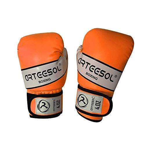 arteesol Boxhandschuhe Kinder, [2er-Set]die schwere Taschen trainieren Trainingshandschuhe Boxsack Sparring Kampf/Kickboxen/Muay Thai Sportspiel