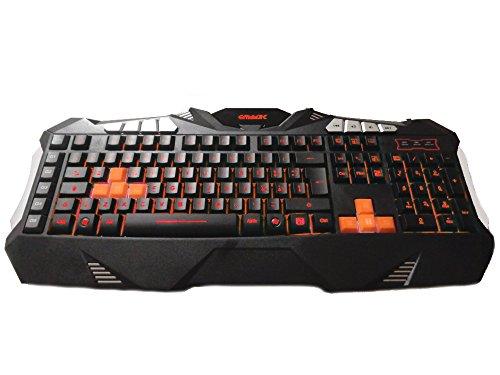 Gammec KBGAG1 Gaming-Tastatur, XCommand mit Makro-Tasten 64 KB, 7 Farben Hintergrundbeleuchtung