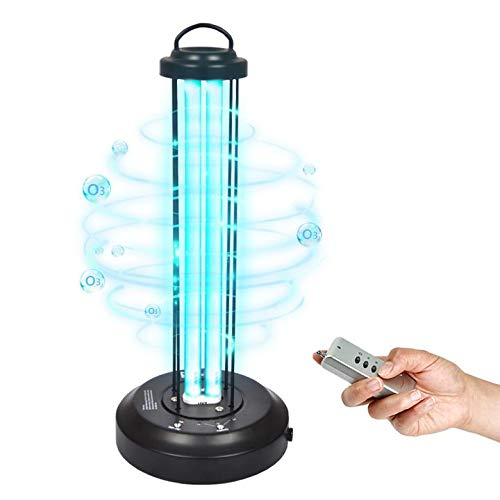 MayJazz 220V Disinfection lamp UV-Licht Effekt kann 99,99% erreichen,Für Zuhause, Schule Hotel Desinfektion Ultraviolettes Keimtötendes Licht 38W Quarzlampe Ozon & Remote Contro