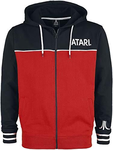 Difuzed Atari Logo Männer Kapuzenjacke schwarz/rot L 100% Baumwolle Fan-Merch, Gaming, Retrogaming