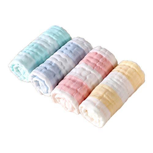 Sayletre - 4 piezas/juego de tela para eructos, tela para saliva para niños pequeños, baberos de alimentación para bebés y niños pequeños, pañuelo suave y absorbente, bufanda, toallita para baño, re