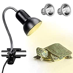【High Quality Bulb】ECOSI 25W Reptile Lamp use silver plating process to make sure anti-oxidation & explosion-proof. and use vacu glass tube to extend lamp life. 【Upgraded UVA Output】:Improved reflector enhanced UVA spectrum and provide more direct su...