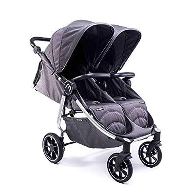 Silla Gemelar Easy Twin 4 Chasis Silver Baby Monsters Plástico de Lluvia y Barras Frontales incluidas Color Texas