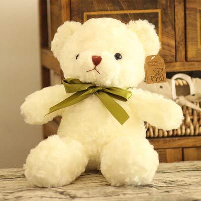LDBJY Juguete de Peluche Retro suéter Oso Pareja Oso de Peluche muñeca muñeca Regalo de cumpleaños 40 cm Corbata Blanca