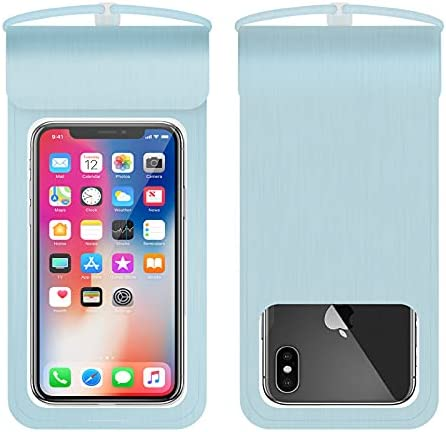 Universal Waterproof Pouch, IPX8 Waterproof Cellphone Dry Bag Underwater Case for iPhone11Pro Max Xs Max XR X 8 7 6S, Galaxy (Blue)