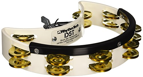Rhythm Tech Tambourine, White, Regular (DST 21)