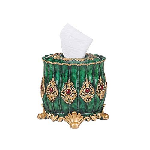 Zhihao Runde Tissue Box steuern kreative Rollenpapier Rohrtrommel Multifunktions kreative Bad Toilette Kasten Gewebe-Halter (Farbe: Silber) (Color : Gold)