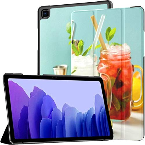 Case For Samsung Galaxy Tab A7 10.4 Inch Tablet 2020(sm-t500/t505/t507), Fresh Cocktail Drinks Ice Fruit Herb Multiple Angle Stand Cover With Auto Wake/sleep