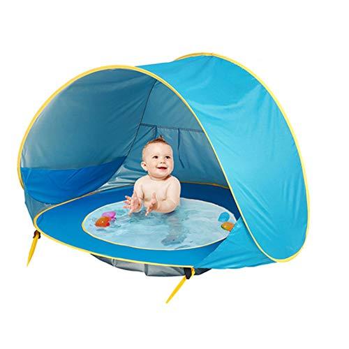 JIAXIAO Ship Carpa de Playa para bebés, con Piscina, Carpa de Playa para bebés portátil al Aire Libre, fácil instalación Plegable, para Patio de Playa Interior