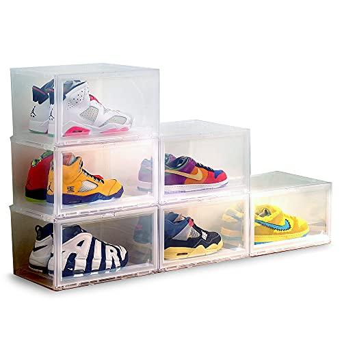 アイリスオーヤマ ディスプレイボックス 6個セット クリア 靴 収納ボックス おもちゃ スニーカー DB376 幅37.6×奥行約29.1×高さ約21.5cm