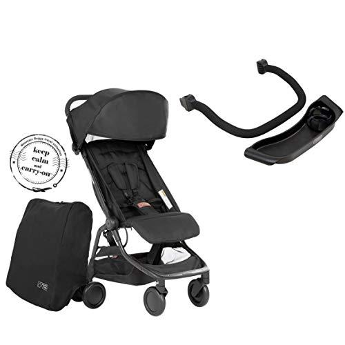 Mountain Buggy Nano V3 (2020+) Kinderwagen in der Farbe black inkl. Reisetasche + Bügel + Tablett