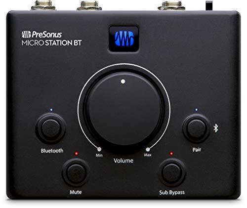 PreSonus MicroStation BT 2.1 Monitor Controller mit Bluetooth Schnittstelle und Subwoofer Ausgang