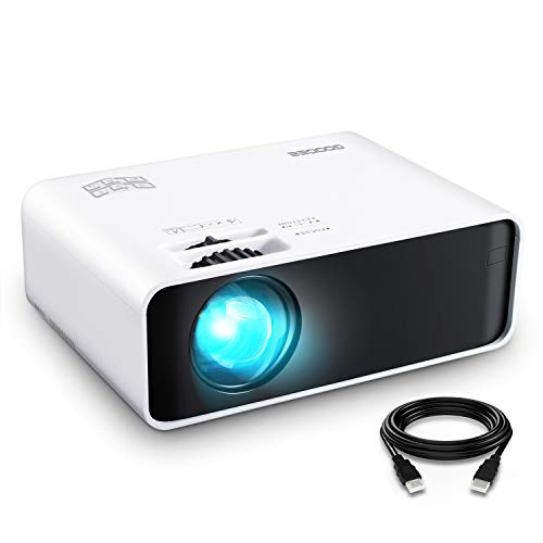 Projector, GooDee Mini Projector LED 1080 Full HD Supported Video Projector, 200' Display and 4500 Lumens Portable Movie Projector Compatible with TV Stick, DVD, USB, HDMI, SD, HD,AV, VGA