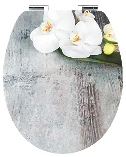 "Cornat WC-Sitz Art of Acryl ""Orchis"" - Elegante Acryl-Oberfläche - Hochwertiger Holzkern - Absenkautomatik & Schnellbefestigung - Komfortables Sitzgefühl / Toilettensitz / Klodeckel / KSDSC309"