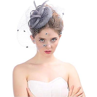 Fascinator Hair Clip Pillbox Hat Bowler Feather Flower Veil Wedding Party Hat Tea Hat