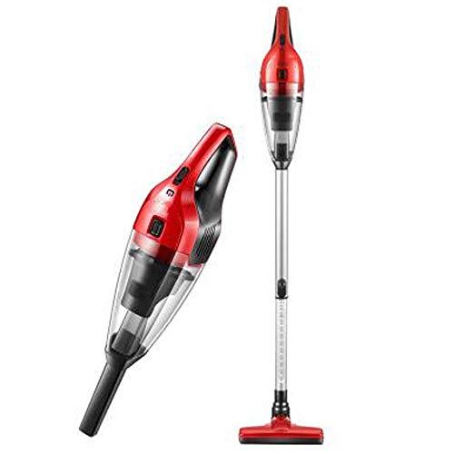 Limpiador de vacío vacío sin cable 2 en 1 y aspiradora de mano con filtro HEPA, herramienta de hendidura y accesorios de cepillo - para pisos de madera (color: rojo) kyman (Color : Red)