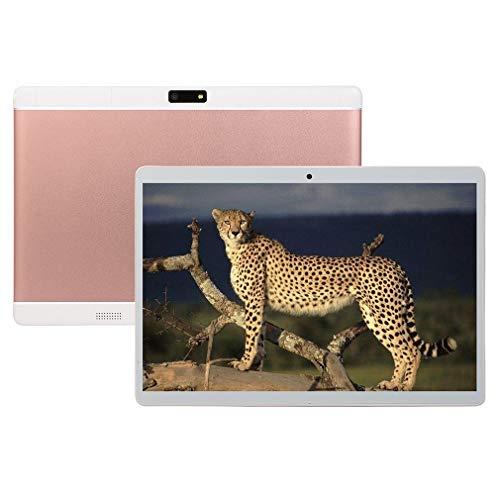 RHNE Tableta De 10 Pulgadas con Tableta De Teléfono De Metal Clásica De 10.1 Pulgadas con Función De Llamada Pink EU