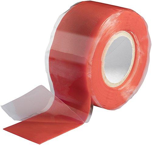 Poppstar 1x 3m selbstverschweißendes Silikonband, Silikon Tape Reparaturband, Isolierband und Dichtungsband (Wasser, Luft), 25mm breit, rot