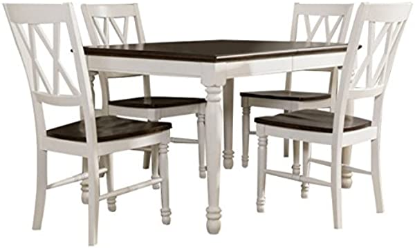 Crosley Furniture KF20003 WH Shelby 5 Piece Dining Set White