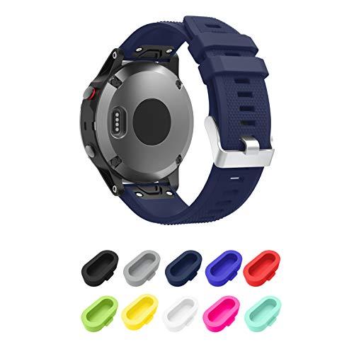 Supore Correa Fenix 5 Watch Banda, Ajuste rápido Correa de Reloj de Silicona Suave para Fenix 5/ Fenix 5 Plus/Fenix 6/Fenix 6 Pro/Forerunner 935/Instinct/Approach S60/Quatix 5/D2 Delta