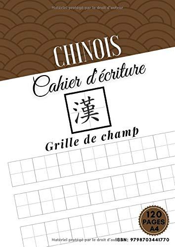 Cahier d'écriture Chinois: 120 Pages - A4   Grille de Champ   Livres Pratique Caractères Chinois   Apprentissage Caractère Chinois (Pīn Yīn Tián Zì Gé Běn)
