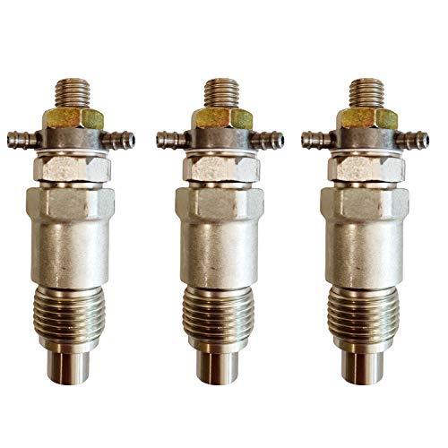 KRRK-parts 3pcs Fuel Injectors 15271-53030 fits for Kubota Tractors B8200 B7100 B7200 with D750 D850 D950 Engine