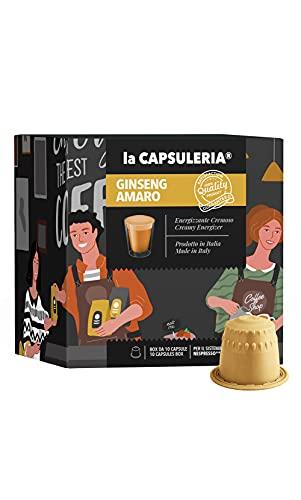 La Capsuleria - Capsule compatibili NESPRESSO - GINSENG AMARO (80 Capsule)