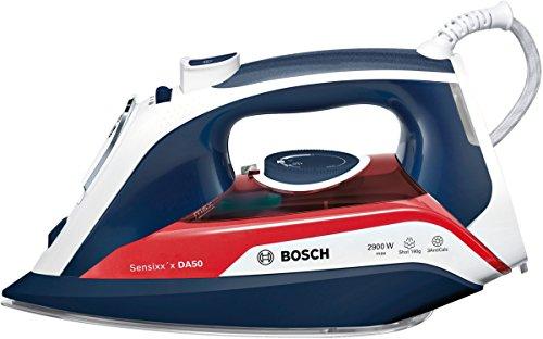 Bosch TDA5029010 - Plancha (Plancha a vapor, Suela de CeramicGlide, 2,5 m, 190 g/min, Azul, Rojo, Blanco, 45 g/min)