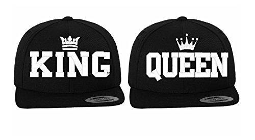 Unbekannt KING & QUEEN BESTICKT   Base Caps   Snapback für Pärchen   Valentine Geschenk- (KING UND QUEEN)