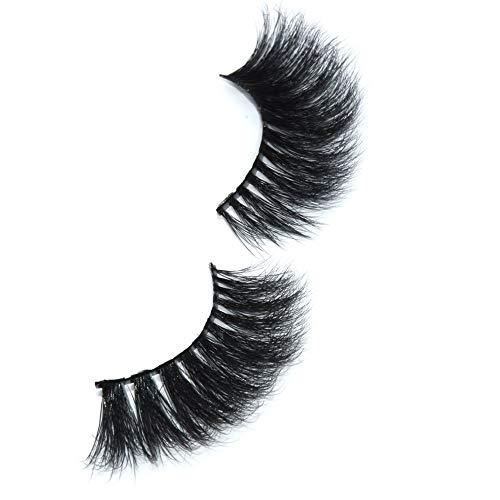 Mink 3D Lashes Eyelashes Long Lashes With Volume for Women's Make Up 100% Siberian Fur Fake Eyelashes Hand-made False Eyelashes 1 Pair Package (3D MINK) (A11)