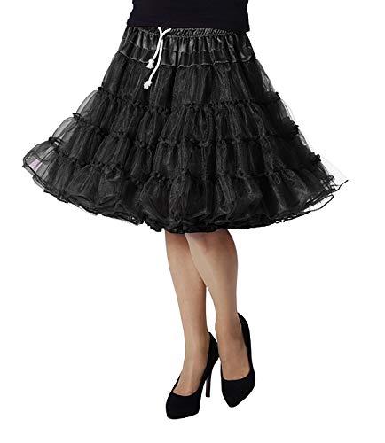 TH-MP Enagua para mujer, falda de lujo, disfraz de carnaval (negro)