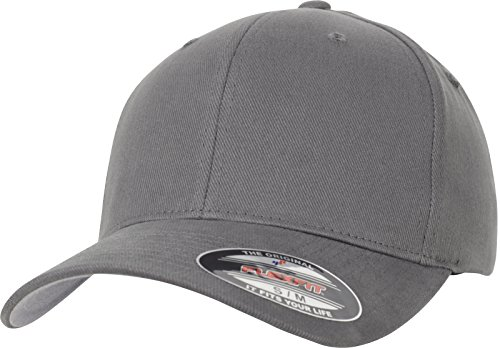 Flexfit Brushed Twill Cap, Grey, L/XL