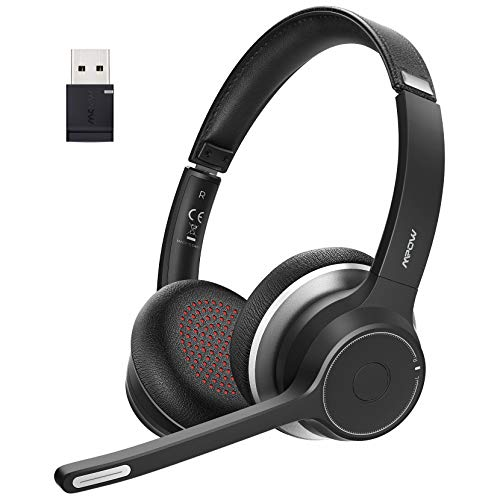 Mpow Bluetooth Headset V5.0 with Adapter...