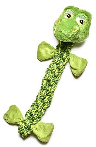 Pistachio Pet Hundespielzeug–Geflochtene Seil Frosch mit Quietsche und Crinkle–50,8cm/51cm lang. Sonderangebot. Begrenzte Zeit.