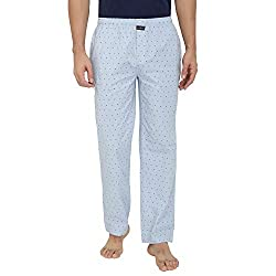 Nick & Jess Mens Blue Triangle Printed 100% Cotton Pyjamas
