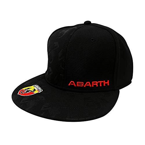 Abarth 21731 schwarzer Hut mit flachem Visier, Black, One Size