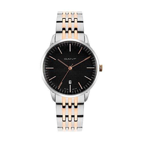 GANT Herren Analog Quarz Uhr mit Edelstahl Armband 7630043930960