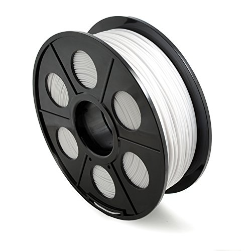 Ganzoo - Filamento per stampanti 3D/FDM/bobina da 1 kg PLA 1,75 mm e 3 mm – In diversi colori, confezione ermetica, 3,00mm, bianco, 1